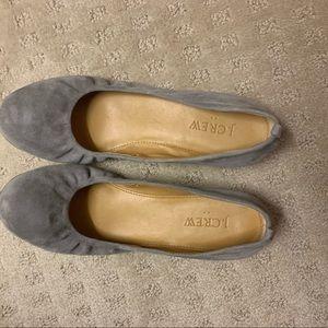 J Crew Gray Ballet Flats